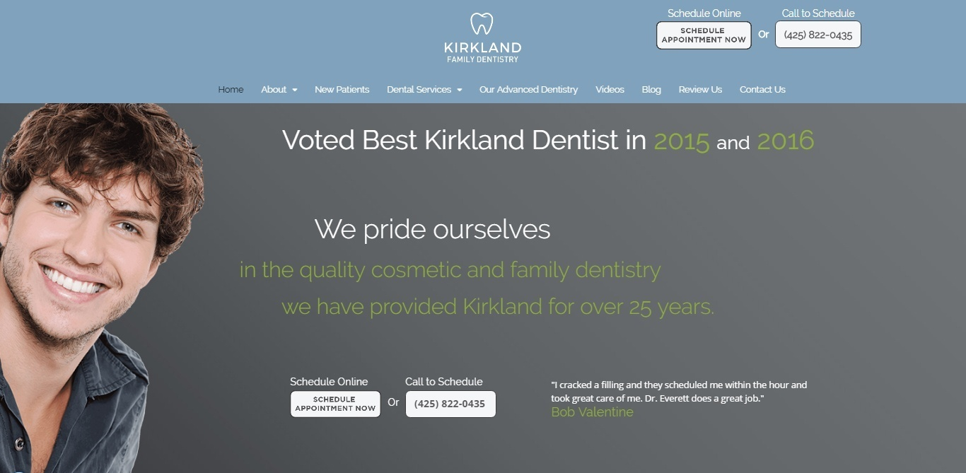 Kirkland Family Dentistry Website